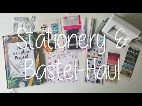 Stationery & Bastel-Haul (Sizzix Sidekick, Washi, Sticker, ...)