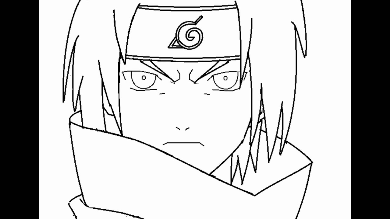 Sasuke - paint ribbon drawing - YouTube