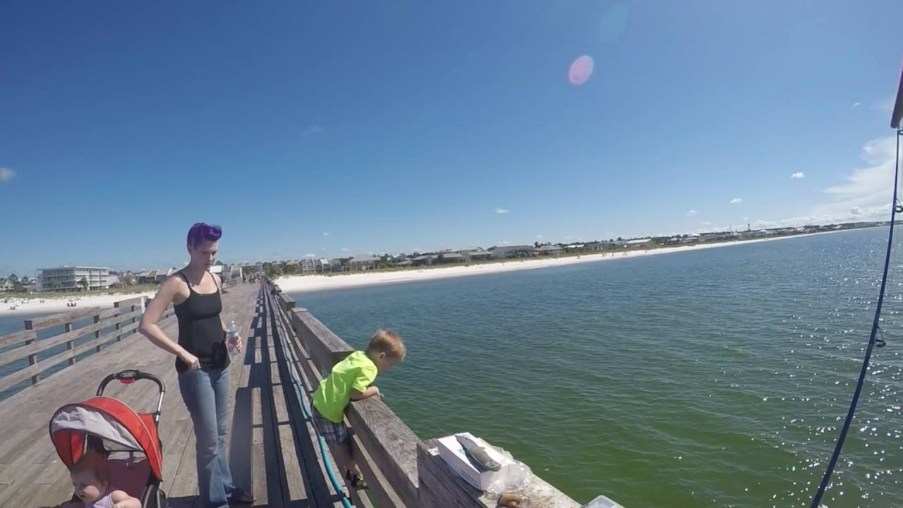 pier fishing mexico beach florida hd youtube