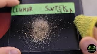 Тестируем Llumar Gloss HC Cap.Песок и Растворители.