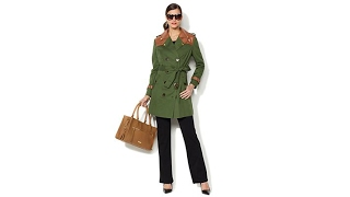 IMAN Global Chic Luxury Trench Coat