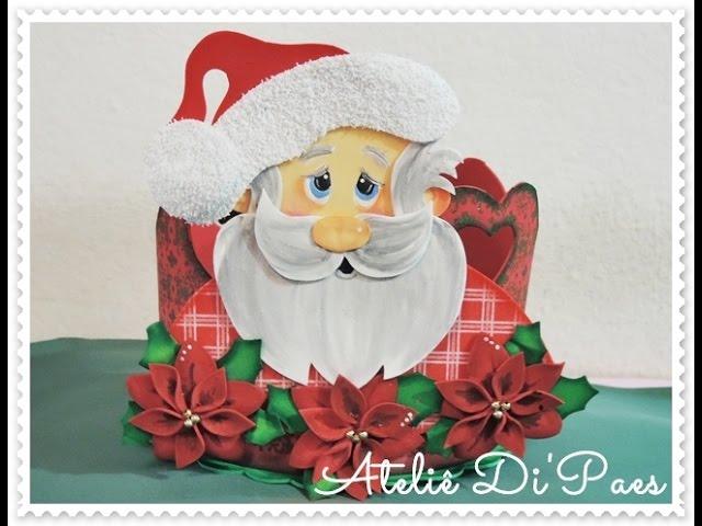 Porta Panetone Noel -  Profª Di Paes