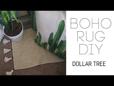 BOHO RUG  DOLLAR TREE DIY 2018