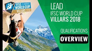 IFSC Climbing World Cup Villars 2018 - Lead Qualifications Overview