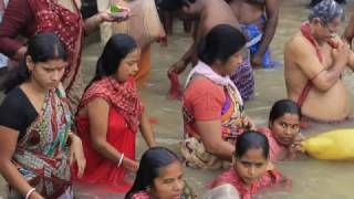 Female Open Holy Bath at Ganga Ghat in Kolkata.