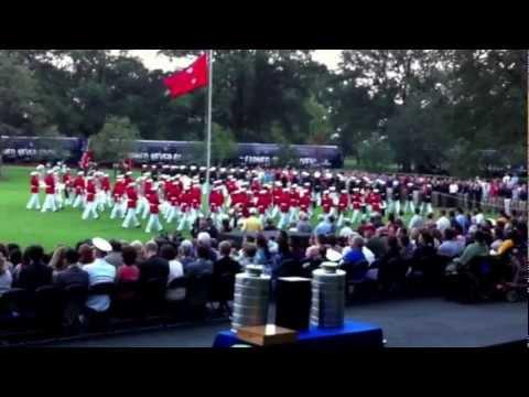 USMC Sunset Parade at Iwo Jima Memorial