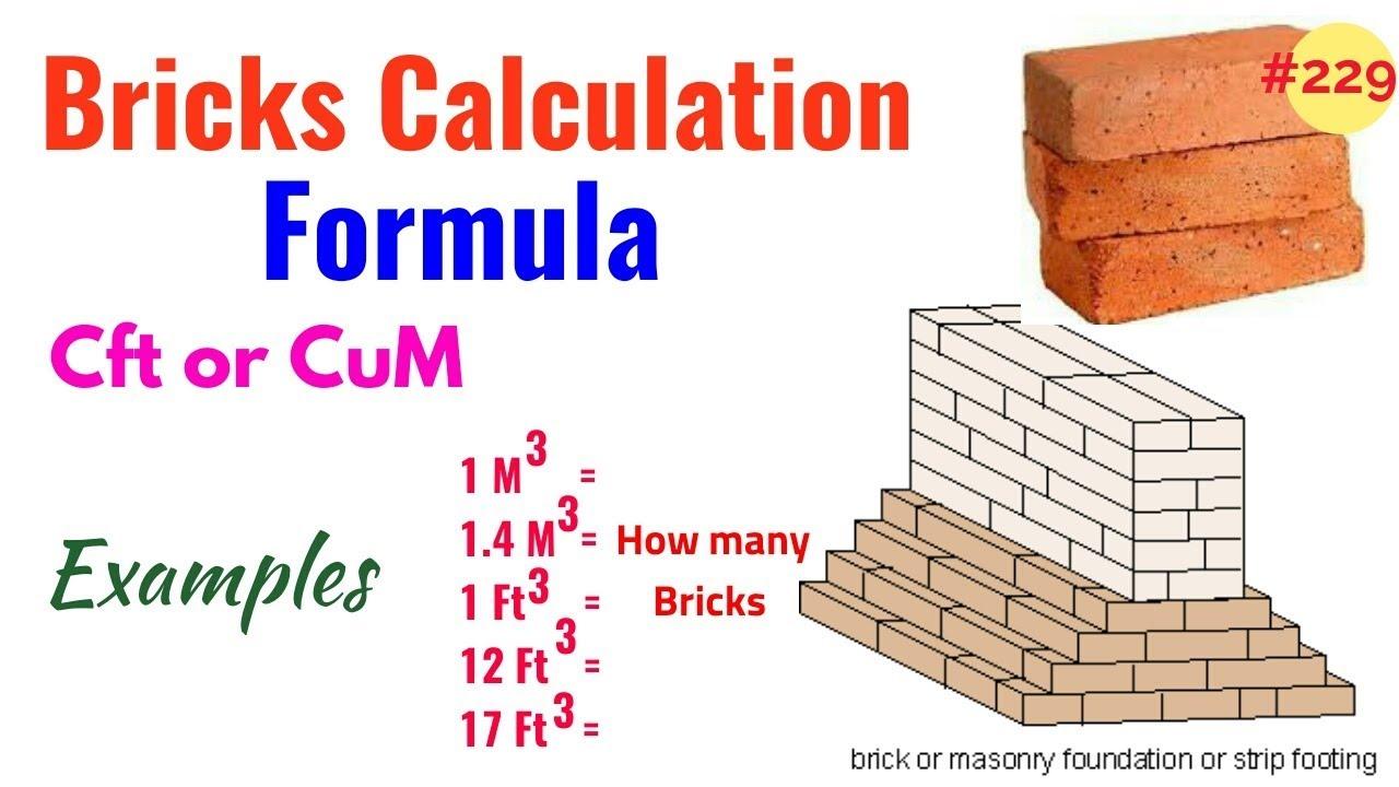 Calctool: number of bricks in a wall calculator.