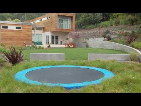 in ground trampoline install time lapse doovi. Black Bedroom Furniture Sets. Home Design Ideas
