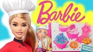 Barbie Cukiernik  Barbie możesz być Szefem Kuchni  zestaw kreatywny