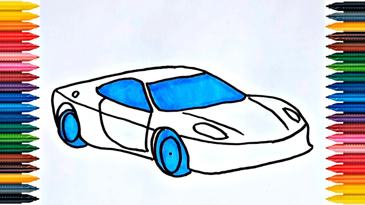 Drawing Racing Car - Video for Kids - YouTube