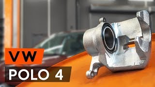 How to replace Brake caliper on VW POLO (9N_) - video tutorial