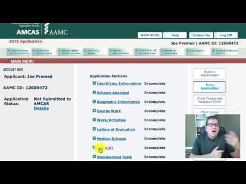 Medical School Application Walkthrough: AMCAS Overview