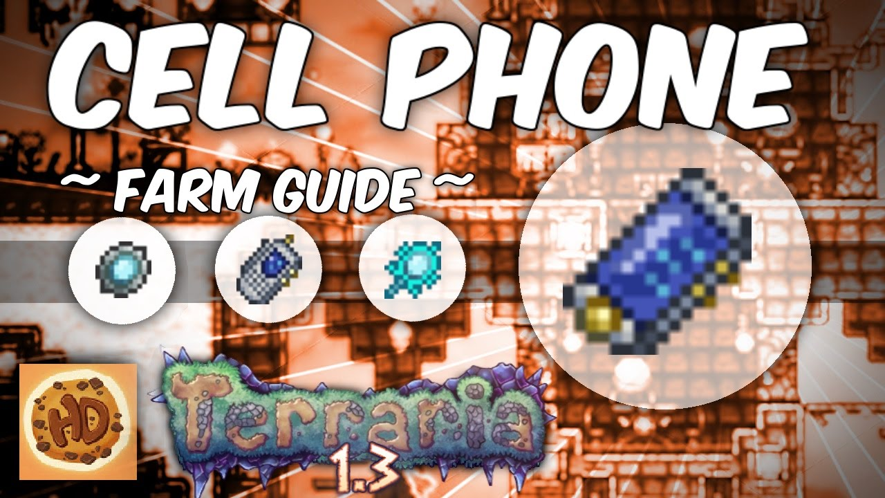 Terraria 1 3 Cell Phone Crafting Guide 1 3 New Items Pda Farm