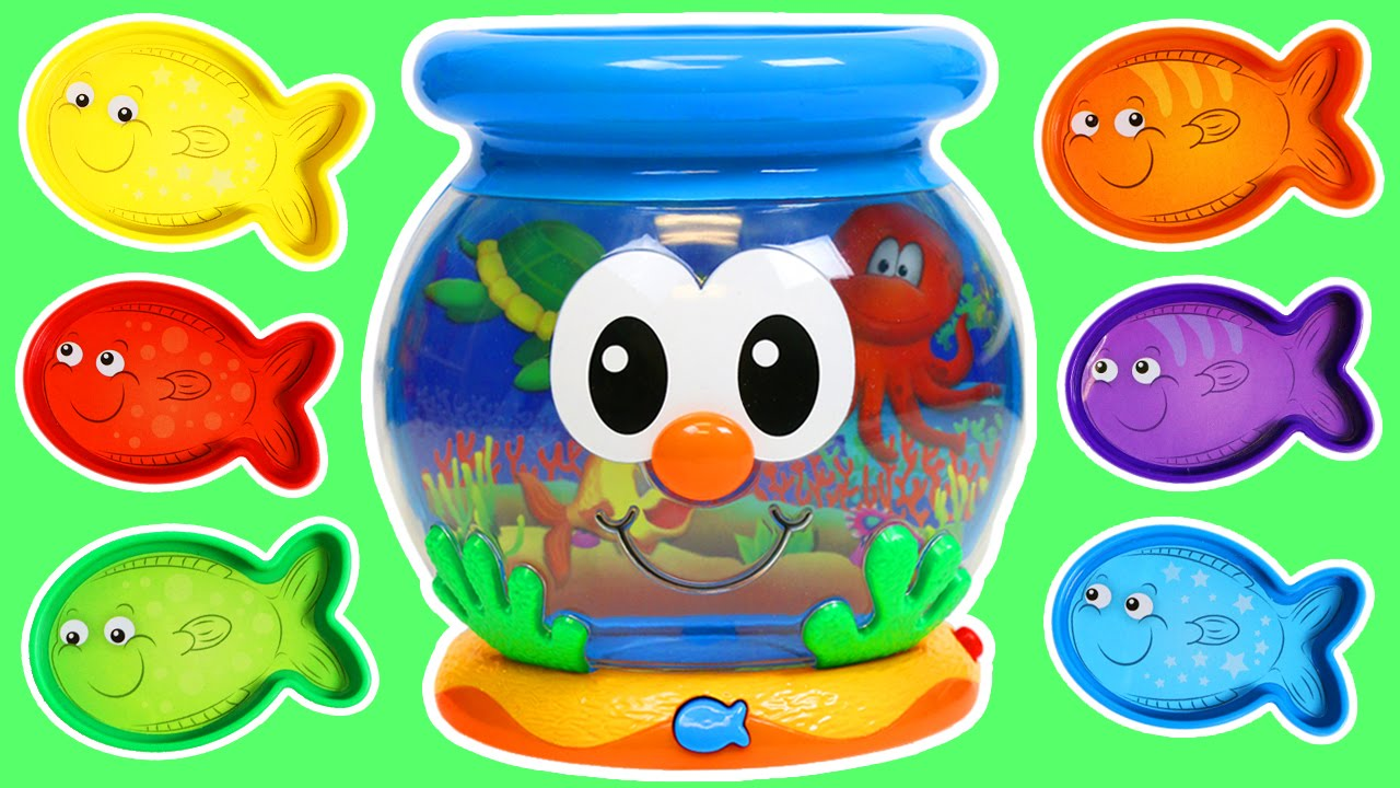 Color Fun Fish Bowl Playset | Learn Colors Kids Learning Game - YouTube