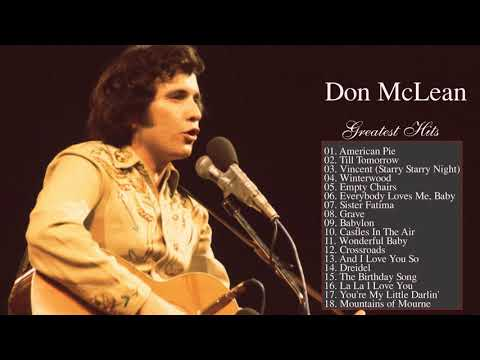 Don McLean Greatest Hits Playlist - Best Of Don McLean Collection 2018 Cover