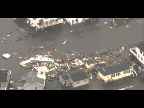 Chopper View Of Devastation In New Jersey  (Long Beach Island)