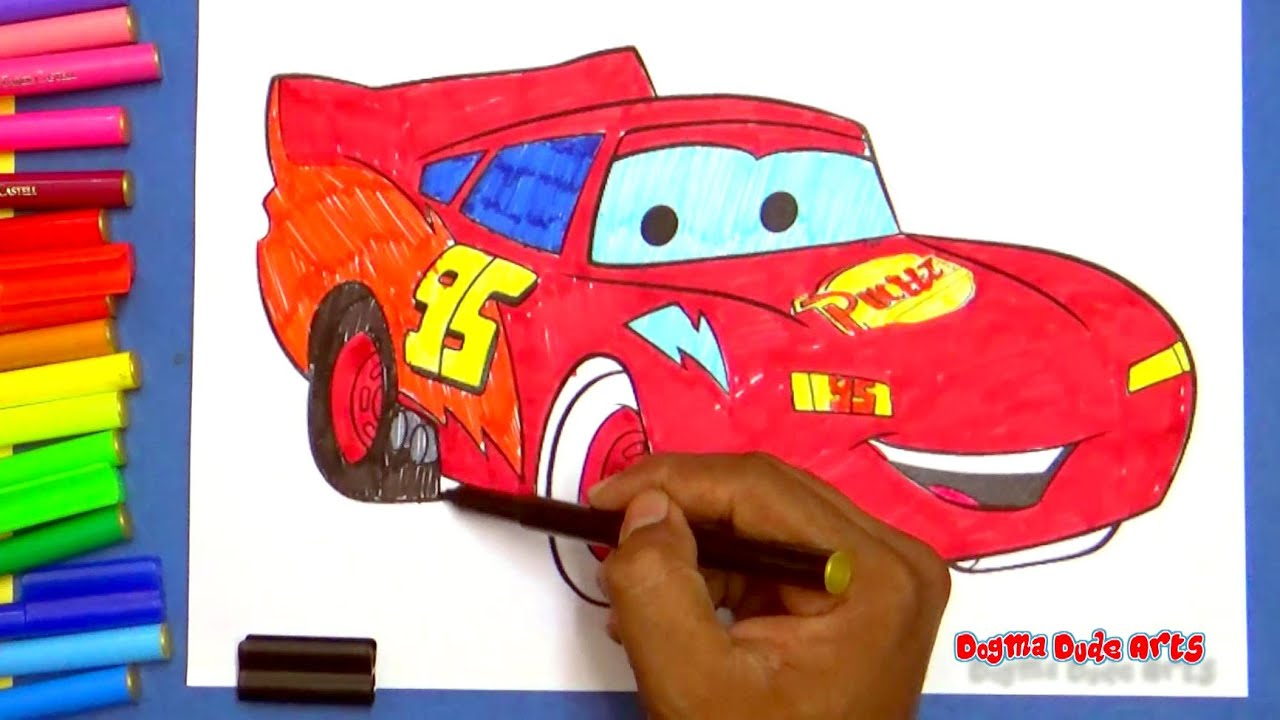 Disney coloring pages lightning mcqueen - Disney Cars Movie Lightning Mcqueen Coloring Pages More Coloring Pages