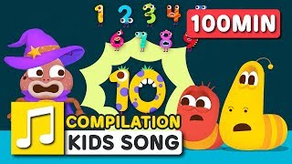 COUNTING SONG COMPILATION | LARVA KIDS | BEST SONGS FOR KIDS |
