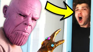 Thanos Scare Prank IN REAL LIFE!! (Avengers: Endgame)