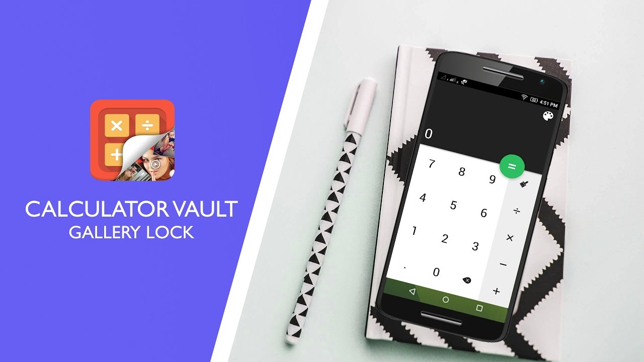 CALCULATOR VAULT - GALLERY LOCK : The Best Privacy Android App for Hide  Photos, Videos,   Etc  📱🔒