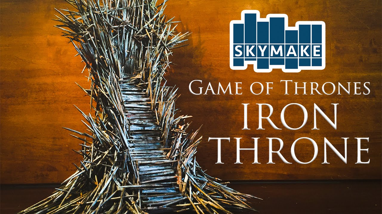 iron throne chair futon sleeper the real game of thrones mini famous chairs youtube