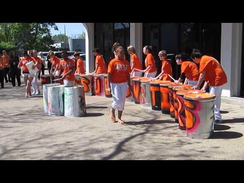 The Sudlow Intermediate School Trash Can Band