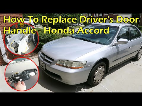 How To Replace Honda Accord Driver S Door Handle 1998 2002 Youtube
