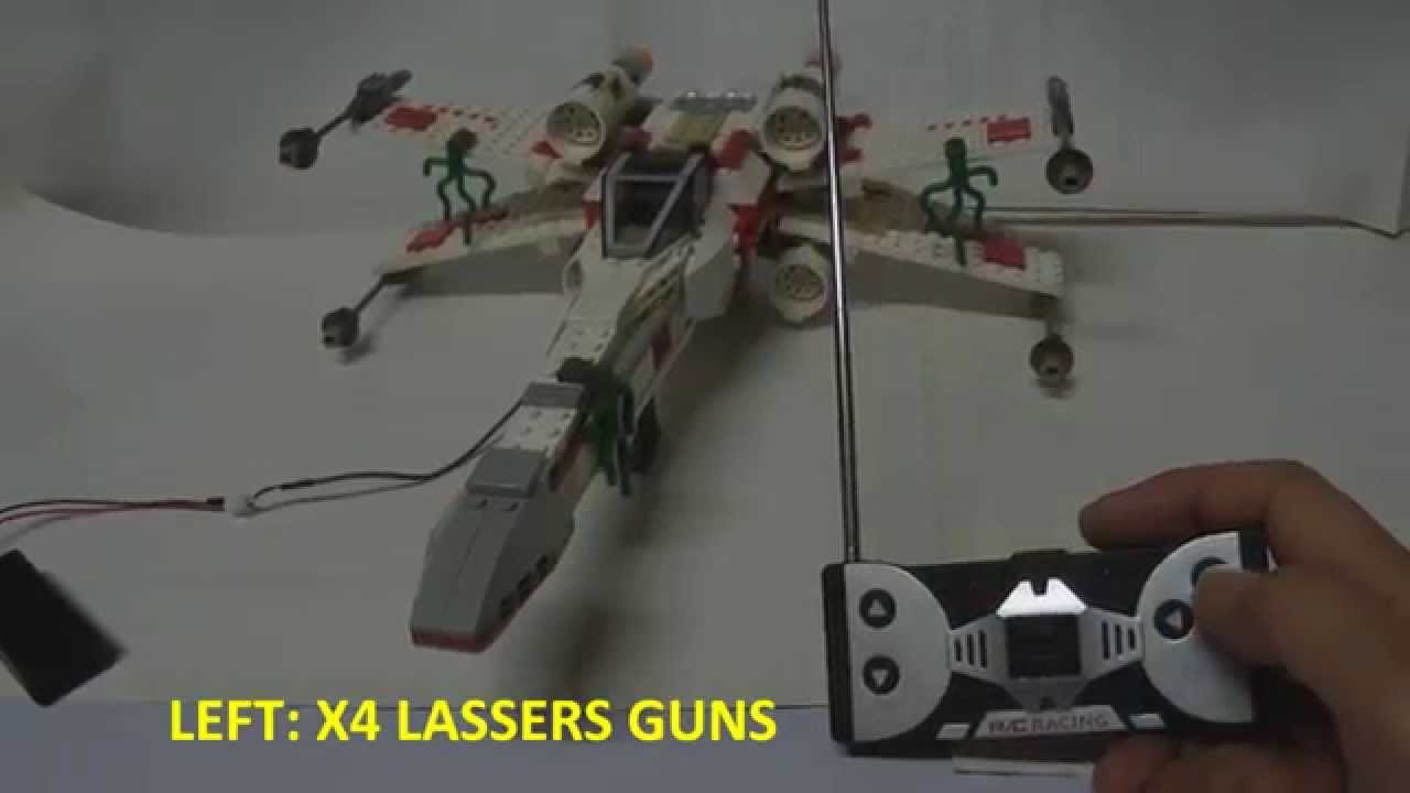 Lego Star Wars X Wing 4502 Custom Rclight Up Motor Wings