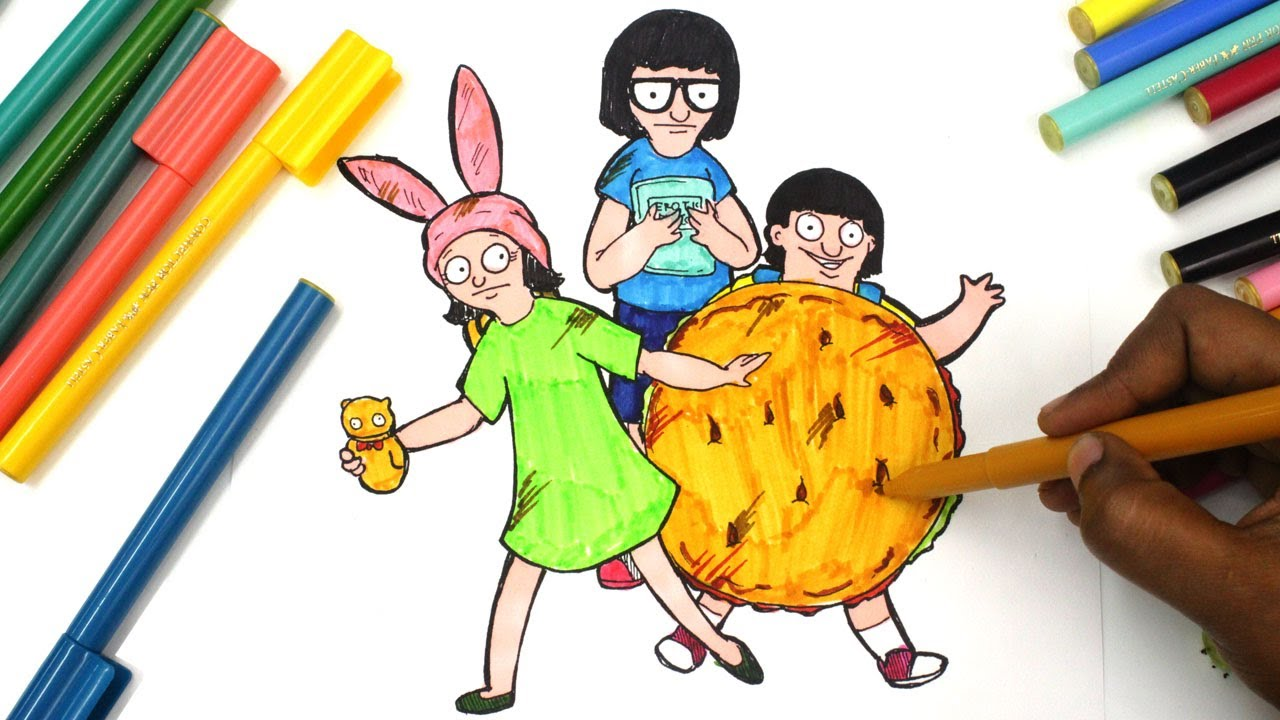 Colouring Bob S Burgers Colouring Book Pages For Kids Youtube