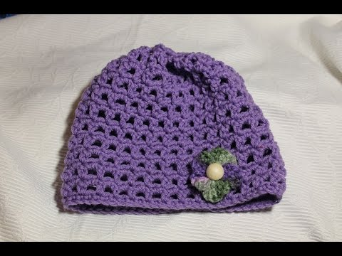 Beginner Crochet Hat Tutorial : Crochet Beginner Open Weave Hat Tutorial - YouTube