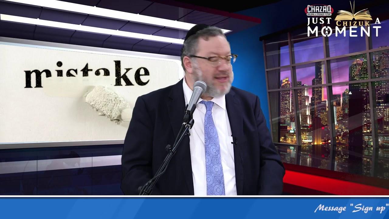 Don't Make A Life Mistake   Rabbi Daniel Mechanic