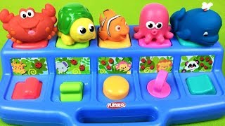 Sea Animals For Babies Learn Colors  Pop Up Toys - Videos For Kids