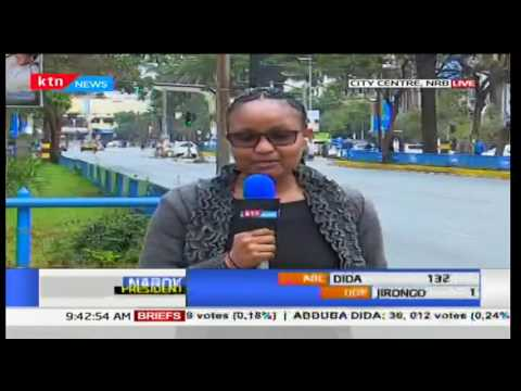 Nairobi city centre deserted as wait for results continues