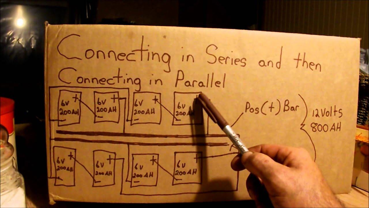 Connecting Batteries In Series And Then In Parallel Youtube