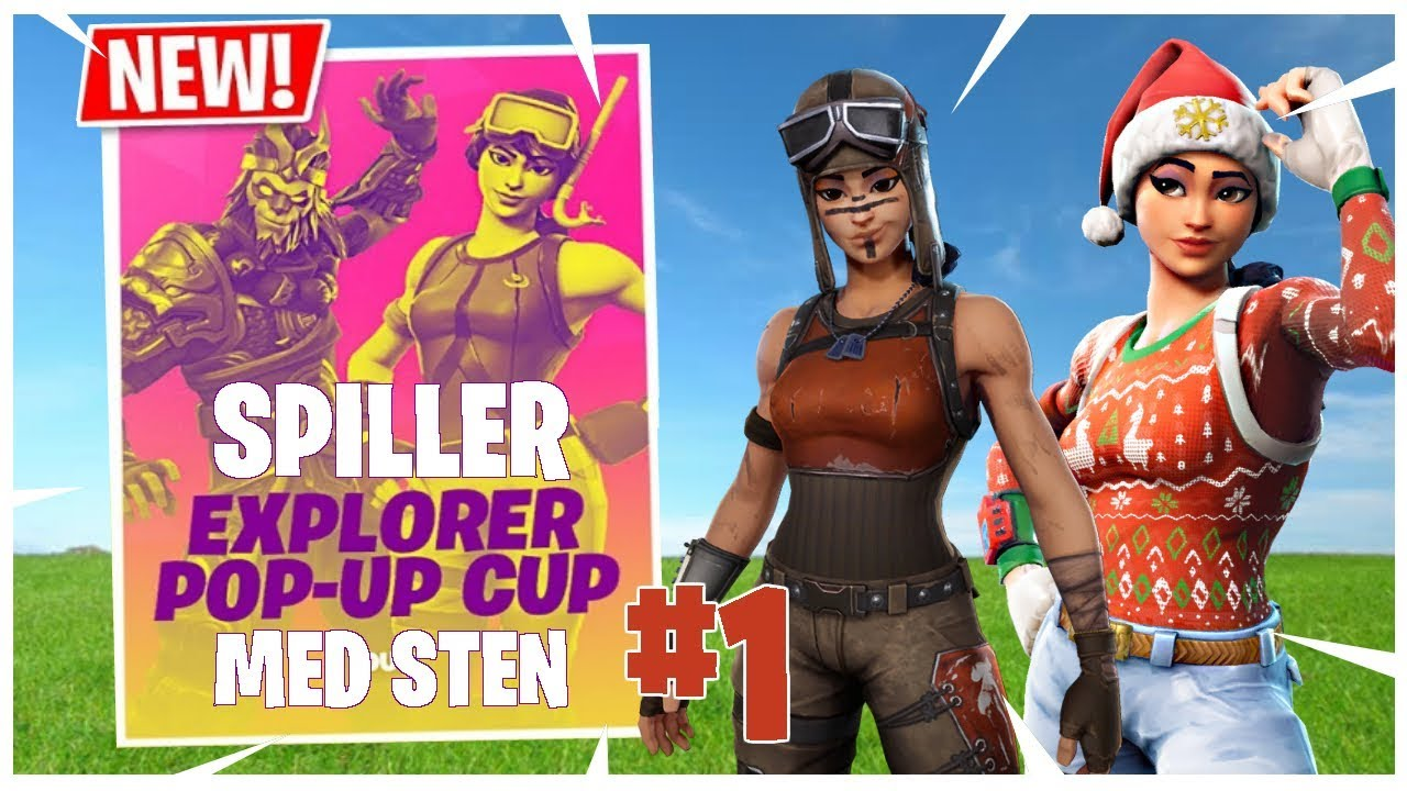 SPILLER POP UP CUP #1 - FORTNITE (Dansk)