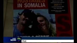 South African couple held captive by Somali pirates released