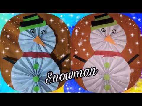 #How to make Paper Snowman #Snowman #PaperCraft 