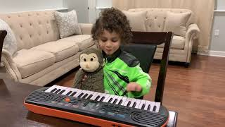 Mayar Learns To Play Piano Music Toys!! Kids Music, INSTRUMENT Toys For Kids