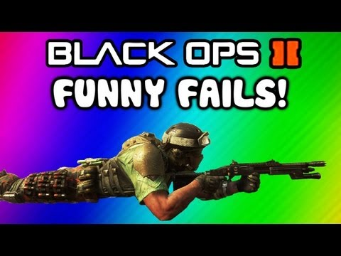 Thumbnail: Black Ops 2 Funny Fail Moments - Ninja Defused, Barrel Bomb, Claymore, Follow, Hunter Killer Fails