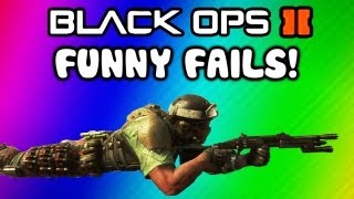 Repeat youtube video Black Ops 2 Funny Fail Moments - Ninja Defused, Barrel Bomb, Claymore, Follow, Hunter Killer Fails