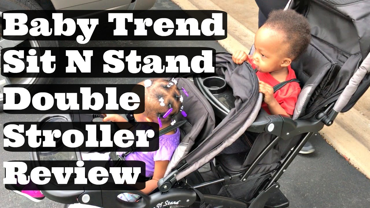 Baby Trend Sit and Stand Double Stroller Review - YouTube