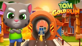 Talking Tom Gold Run Android Gameplay - New Skater Sideworld