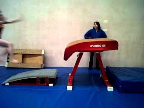 New Elite Gymnastics Shrewsbury UK   Table Vault Demo