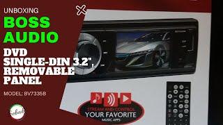 BOSS AUDIO BV7335B Single-DIN 3.2 inch Screen - Unboxing