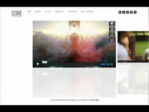 Core Theme - How to create video portfolio page