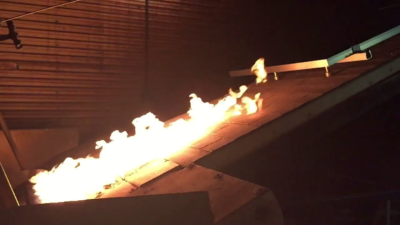 Pv Panel Fire Test Youtube