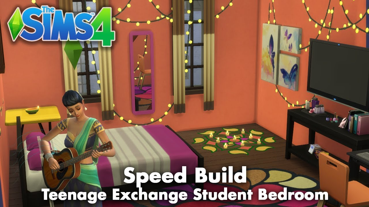 Speed Build: The Sims 4 | Teenage Exchange Student Bedroom