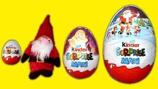 Christmas Kinder Surprise Eggs Giant Chocolate Egg Kinder Surprise Maxi Kinder Joy Opening for Kids