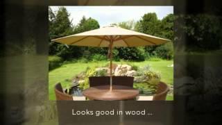 Teak Garden Parasols from The Garden Furniture Centre ...