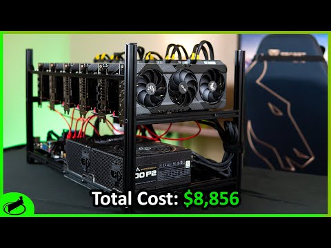 RTX 3080 Mining Rig Build | 600 MH/s and 1500 Watts!!